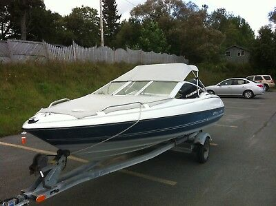 17Ft Bayliner Capri with 90HP Evinrude Etec and Galvanized Trailer