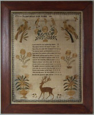 Antique Sampler, 1841, by Julia Warburton