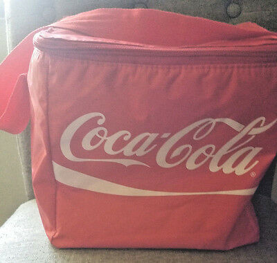 Red Coca-Cola 12 Can Insulated Cooler Tote Bag - Coke Lunch Picnic