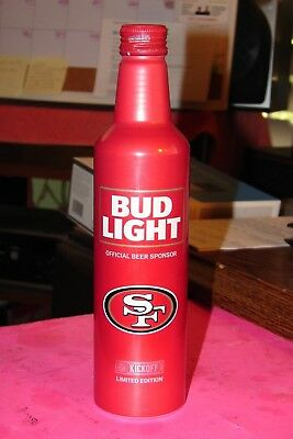 San Francisco 49ers Limited Edition Empty Aluminum Beer Bottle 2017