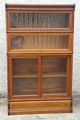Vintage American Oak Lawyers Barrister Book Case With Sliding Door LA Area