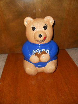 RARE Avon Bear Cookie Jar BLUE Not RED Very Few Made District Mangers ONLY