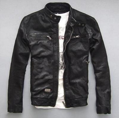 Men's Leather Jacket Slim fit Motorcycle jacket new