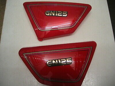 Suzuki GN 125 E 1994-2001 SIDE PANELS PANEL COVER COVERS NEW RED