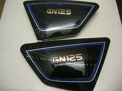 Suzuki GN 125 E 1994-2001 SIDE PANELS PANEL COVER COVERS NEW BLACK