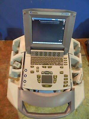 Sonosite Titan P04240-10 Ultrasound With L38/10-5 and C15/4-2 Transducers, Etc.