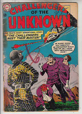 Challengers Of Unknown V1 #33  G+/ Vg  1963  American D.c Comic Glued Spine