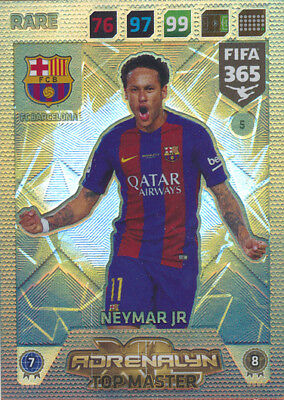 Fifa 365 Cards 2018 - 005 - Top Master - Neymar Jr. - Rare