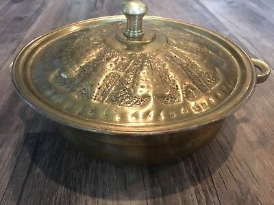 Persian Persepolis covered bowl woth lid stamped vintage 6 1/4 inch cookware