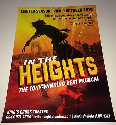 In The Heights Musical Theatre Poster - A3 Size