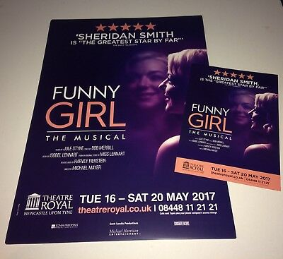 Funny Girl Musical Theatre Poster & Flyer Sheridan Smith - A3 Size