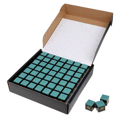 98Pcs Pro Cue Tip Chalk for Snooker,Pool,Billiard Cue - Green
