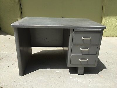 Vintage McDowell & Craig Tanker Desk with drawers