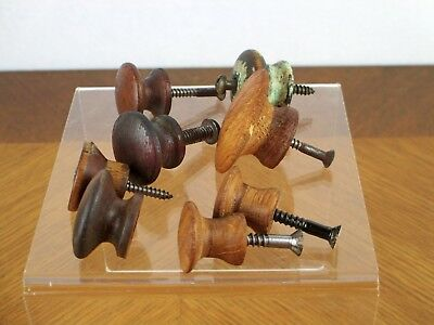 Lot of Eight (8) Vintage Misc. Wood Drawer Pull Knobs