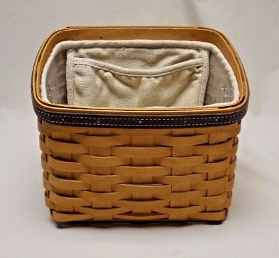 Longaberger 2002 Father's Day Daddy's Caddy Basket w/ Liner and Protector