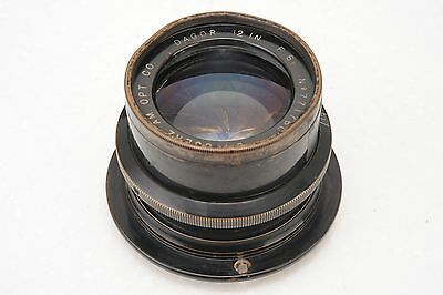 ":Goerz Dagor 12"" 305mm F6.8 8x10 Large Format Brass Barrel Lens"