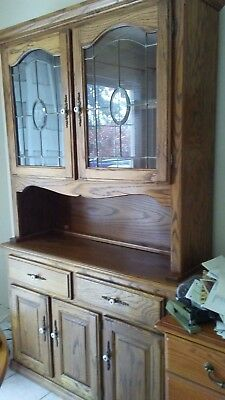 Solid Oakshaker Style Buffet Cabinet, Lots Of Storage, Pre-Owned