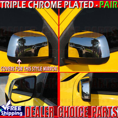 2014 15 16 2017 2018 CHEVY COLORADO 15-18 GMC CANYON Triple Chrome Mirror COVERS