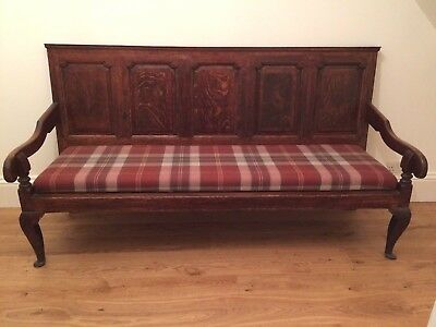 Antique Oak Settle Georgian