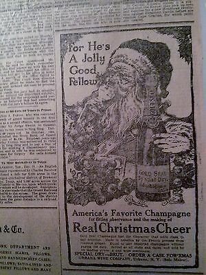 Dec 22, 1910 Newspaper Page #4860- Gold Seal Special Dry Champagne- Urbana, Ny