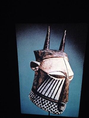 Kuba Congo-Initiation Rites Helmet Masks- African Tribal Art 35mm Slide