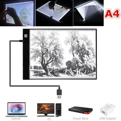 LED Light Box Art A4 Board Tracing Tattoo Drawing Table Acrylic Painting 3 Mode