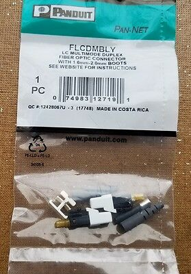 FLCDMBLY Panduit LC OM2 OM3 and OM4 multimode Duplex Connector