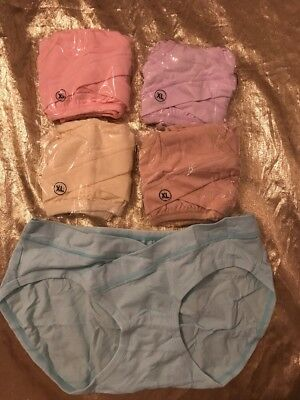 NIP 5 Pack Low-Waist Maternity Panties Soft Underwear Size XLarge See Photos