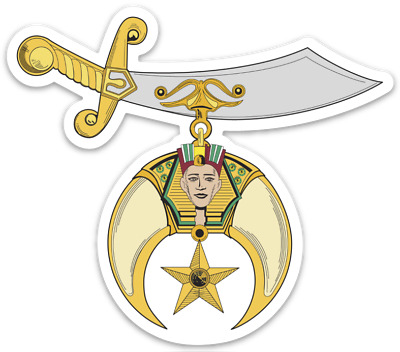 Shrine Shriner Sticker Decal Freemason York Scottish Rite Prince Hall