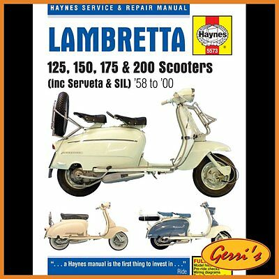 5573 Haynes Lambretta Scooters (1958 - 2000) Workshop Manual