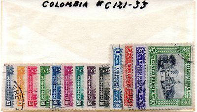 Colombia, 1941, Sc. ##C121-33, Used, Complete set, SCV 30.50. RG4.021