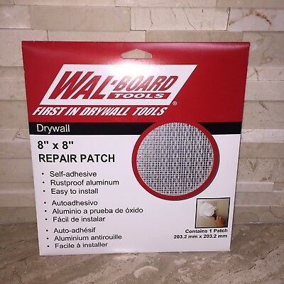 "Wal Board Tools 8"" X 8"" Drywall Repair Patch"