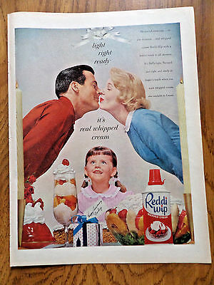 1958 Reddi-Wip Ad  Family Anniversary Party Theme