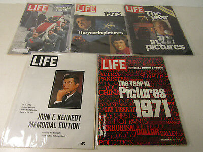 Lot Of 5 Life Magazine JFK Memorial Edition Churchill's Funeral And More