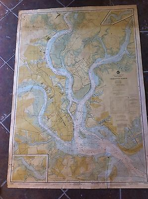 Charleston Harbor Nautical Chart All Beaches And Islands 3 Rivers Great Color