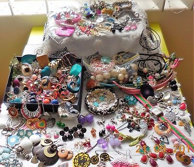 Vintage-Now  Costume Jewellery Bulk Lot Mixed, To Wear, Craft, Repurpose 1.1KG