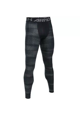 New UNDER ARMOUR Mens XL heat gear  Compression Leggings Pants Gray black nwt