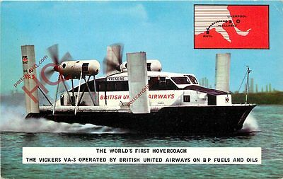 Picture Postcard- British United Airways Hovercraft V.A-3 [Issued By Bua]