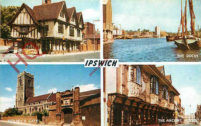 Picture Postcard- Ipswich (Multiview) [Salmon]