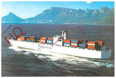 Picture Postcard: SAFMARINE CARGO SHIP