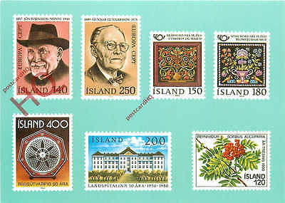 Picture Postcard::Icelandic Stamps