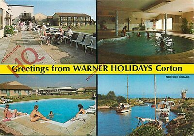 Picture Postcard:-Greetings From Warner Holidays Corton (Multiview)