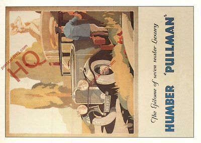 Picture Postcard:-Humber Pullman Advertising