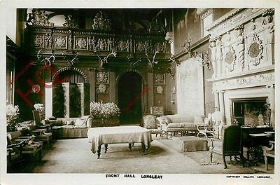 Picture Postcard:-Longleat, Front Hall