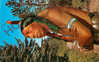 Picture Postcard:-Native American, American Indian, 'How!'