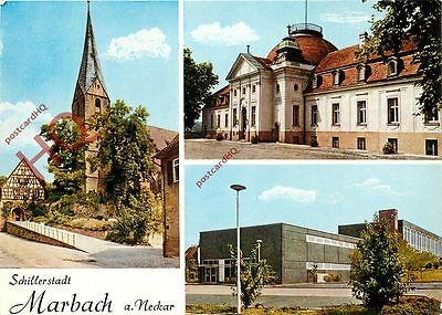 Picture Postcard-:Marbach (Multiview)