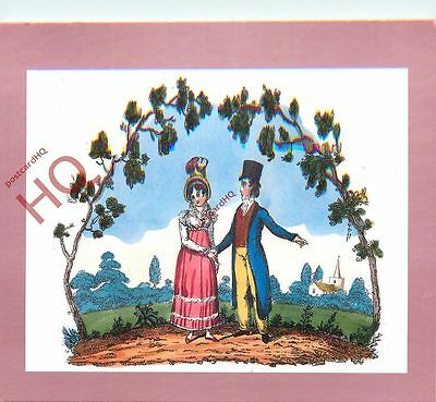 Picture Postcard-:National Postal Museum, Handcoloured Valentine Card From 1822