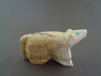 Sweet Face Zuni Furry Wolf Fetish Carving Wilford Cachini 55