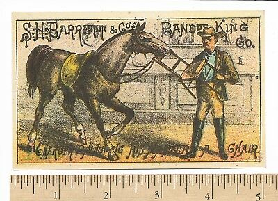 S.H.Barrett Co's BANDIT KING Horse Theatrical Advertising Trade Card