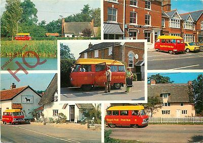 Picture Postcard; Diss-Gislingham Post-Bus (Multiview)